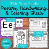 Bible Verse Poster, Handwriting, and Coloring Sheet Bundle