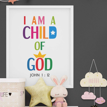 Bible Verse Poster - I am a child of God