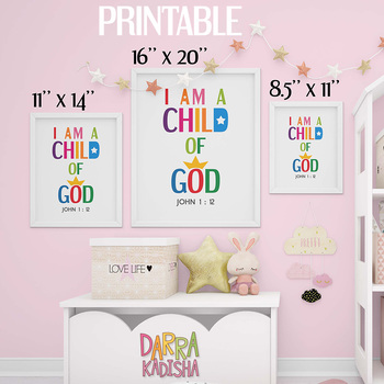 image relating to I Am a Child of God Printable named Bible Verse Poster - I am a little one of God