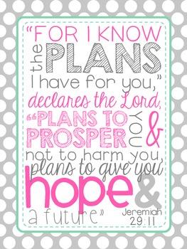 Bible Verse Poster {Jeremiah 29:11}