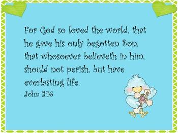FREE Bible verse ~ John 3:16