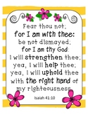 Bible Verse Posters Bright Boho Classroom Decor, End of th