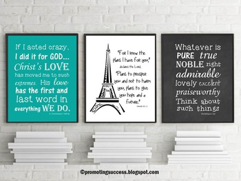 Christian Classroom Posters Bible Verse Inspirational Quotes Religion Education