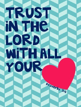 Bible Verse Posters for Classroom