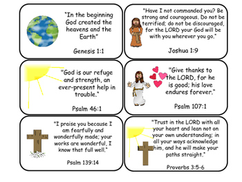 photo regarding Printable Bible Verses Pdf titled Bible Verse Printable Flashcards. Preschool-Kindergarten Bible.