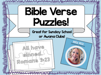 Bible Verse Puzzles! {Great for Awana or Sunday School!}