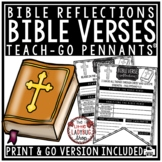 Bible Verse Reflection Activities- Weekly Journaling Teach- Go Pennants™