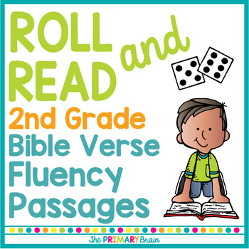 Bible Verse Roll it, Read it, and Color it Fluency Workshe