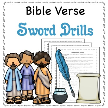 Bible Verse Sword Drills for the New Testament, No Prep End of the Year Game