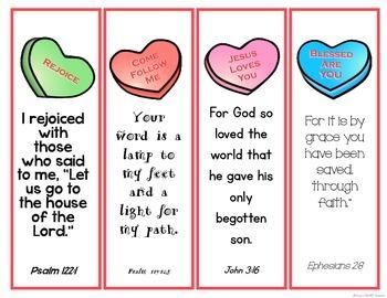 Bible Verse Valentine Bookmarks