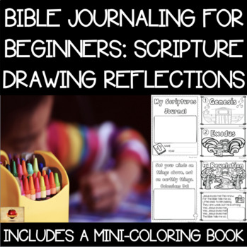 Bible Verse and Books of the Bible Coloring Year-Long Journal Set! {PK-K}