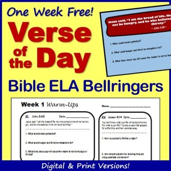 Bible Verse of the Day Bellringer Warm Ups - Free Week!