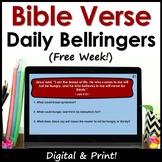 Bible Verse of the Day Bellringer Warm Ups - Free Week!