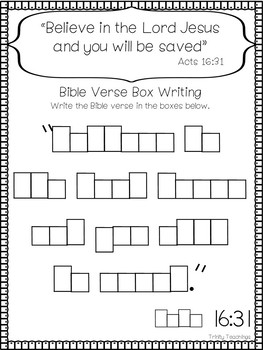 Bible Verse of the Week-Acts 16:31. Printable Bible Study Curriculum.