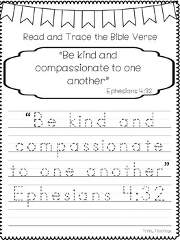 Bible Verse of the Week-Ephesians 4:32 Printable Bible Study Curriculum.