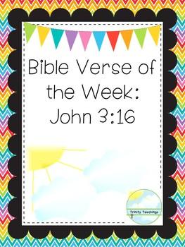 Bible Verse of the Week-John 3:16  Printable Bible Study Curriculum