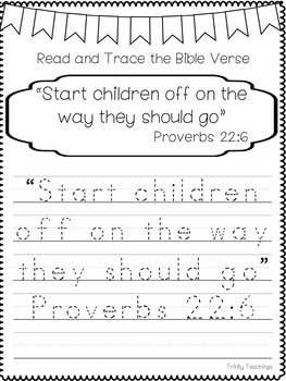 Bible Verse of the Week-Proverbs 22:6 Printable Bible Study Curriculum.