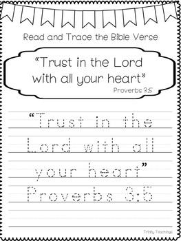 graphic regarding Printable Bible Study called Bible Verse of the 7 days-Proverbs 3:5. Printable Bible Review Curriculum.