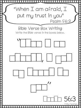 Bible Verse of the Week-Psalm 56:3 Printable Bible Study Curriculum.