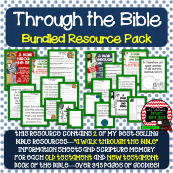 Bible Verses, Background Info, and Response Sheets (Schoolwide Primary Bundle)