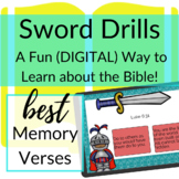 Bible Verses DIGITAL Sword Drills Freebie | BOOM CARDS to