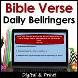 Bible Verses ELA Bell Ringers - Full Year Printable & Digital