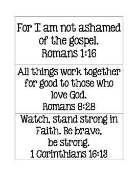Bible Verses Memorization Cards