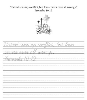 Bible Verses Handwriting and Penmanship Practice