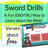 Bible Verses about Fear DIGITAL Sword Drills | BOOM CARDS