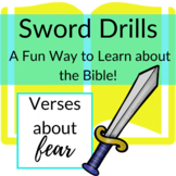 Bible Verses about Fear Printable Sword Drills | Race to l