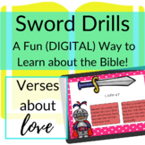Bible Verses about Love DIGITAL Sword Drills | BOOM CARDS