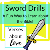 Bible Verses about Love Printable Sword Drills | Race to l