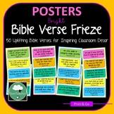 Bible Verses for Home & Classroom Frieze 70 Color Encouraging & Motivational