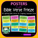 BIBLE VERSE POSTERS or Frieze Encouraging & Motivational S
