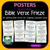 Bible Verses for Home & Classroom Frieze 70 Encouraging & Motivational B&W