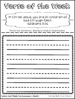 FREE Bible Memory Verses for KIDS-35 Activities
