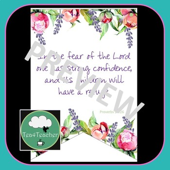 Bible Verses for Little Kids - Kindergarten & Classroom Posters Christian Bible