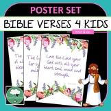 Bible Verses for Little Kids - Kindergarten & Classroom Posters Christian Bible