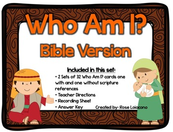 Bible Version Who Am I? Cards