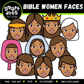 Bible Women Faces Clip Art
