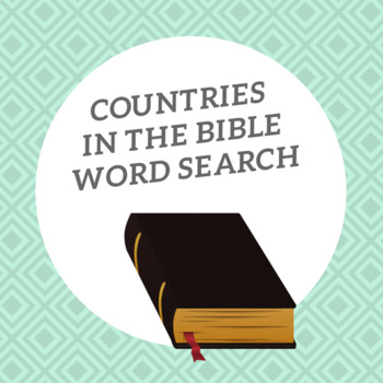 Bible Word Search (Countries in Bible)