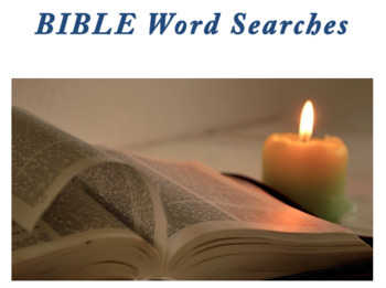 Bible Word Searches (and bonus material)!-BUNDLE