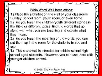 Bible Word Wall