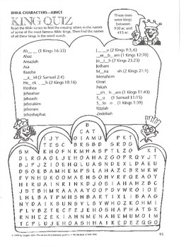 Bible Worksheets with Answer Keys (about 75 pages) Grades 4-8