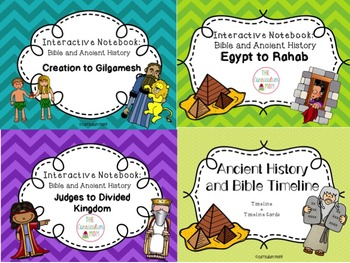 Bible and Ancient History BIG Bundle (3 Interactive Notebook Units and Timeline)