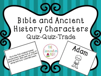 Bible and Ancient History Characters Matching or Quiz Quiz Trade Cards