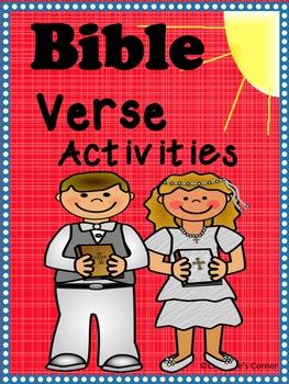 Bible Scripture Verse activities ISAIAH 45:19 2 CORINTHIANS 13:14 GENESIS 2:3