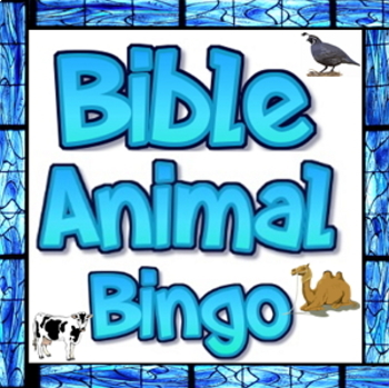 Bible animal bingo freebie