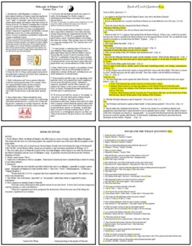 75 Bible as Literature Lesson Plans or Activities