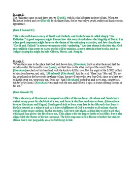 Bible as Literature: Midterm Exam on Old Testament (with Answer Key)